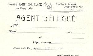 Carte d'Agent Délégué