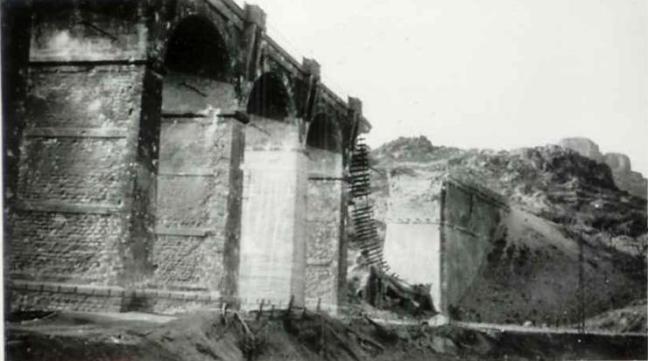 Le viaduc détruit