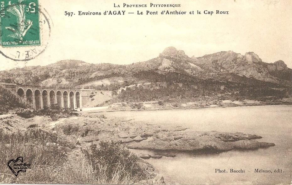 viaduc et Cap Roux bistre 1920